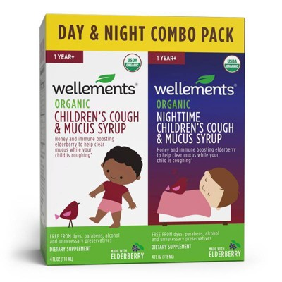 Wellements Day & Nighttime Children's Cough & Mucus Syrup - 4 fl oz