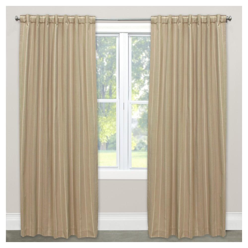 Window Curtain Panels Stripe Tan (50