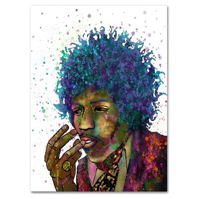 Jimi Hendrix' by Marlene Watson Ready to Hang Canvas Wall Art