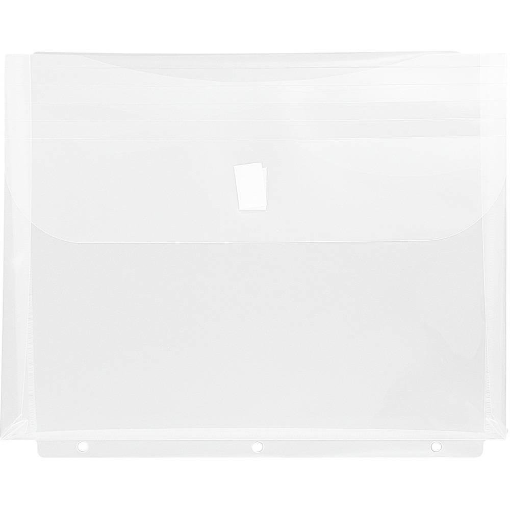 Jam Paper 12pk Plastic 3 Hole Punch Binder Envelopes, Hook & Loop Closure, 1 Expansion - Clear Jam Paper 12pk Plastic 3 Hole Punch Binder Envelopes, Hook & Loop Closure, 1 Expansion - Clear