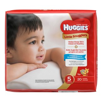 Huggies Little Snugglers Diapers Jumbo Pack - Size 5 (20ct )