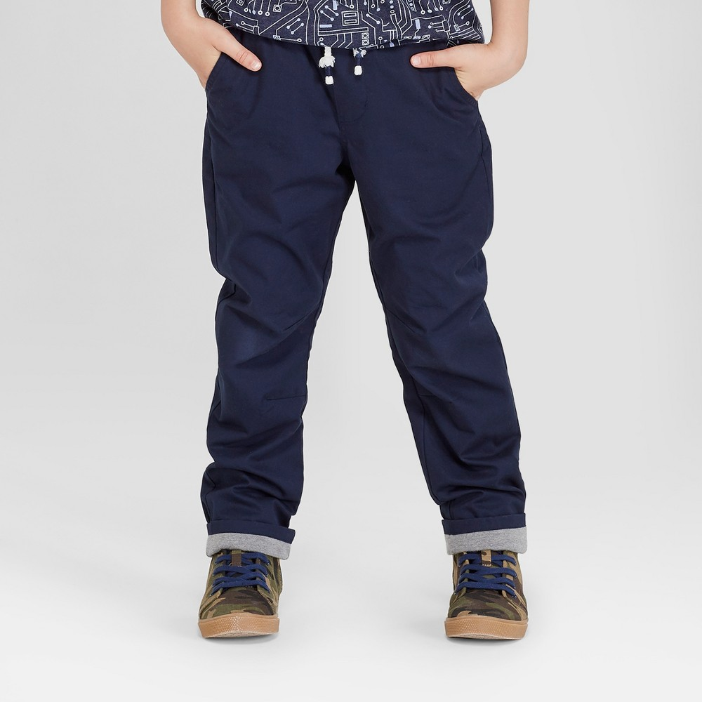 Boys' Straight Fit Pull-On Pants - Cat & Jack Navy (Blue) 12