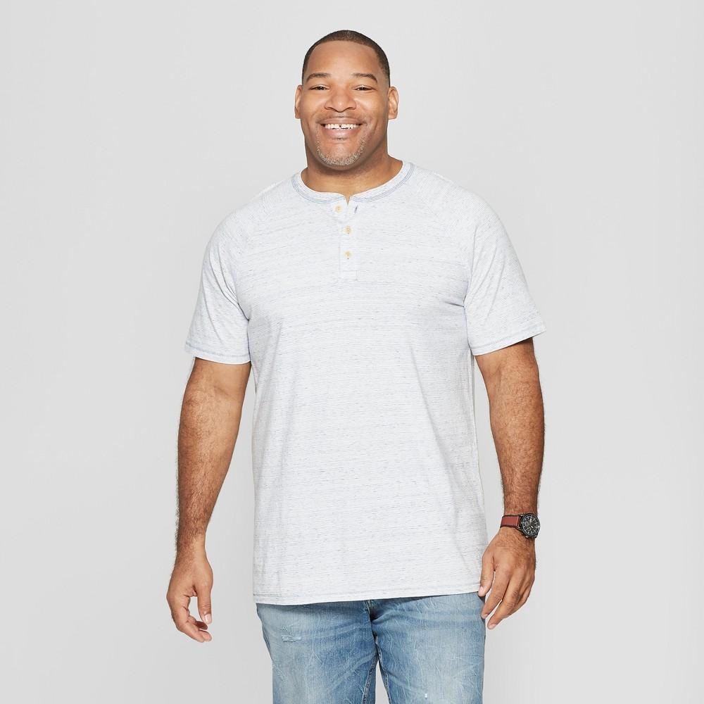 Men's Tall Regular Fit Short Sleeve Henley Shirt - Goodfellow & Co White Xlt