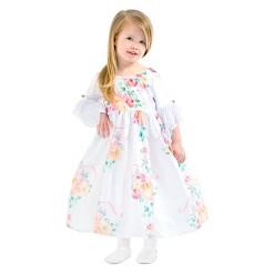 Little Adventures Girls' Floral Beauty Dress - White L, Size: Large