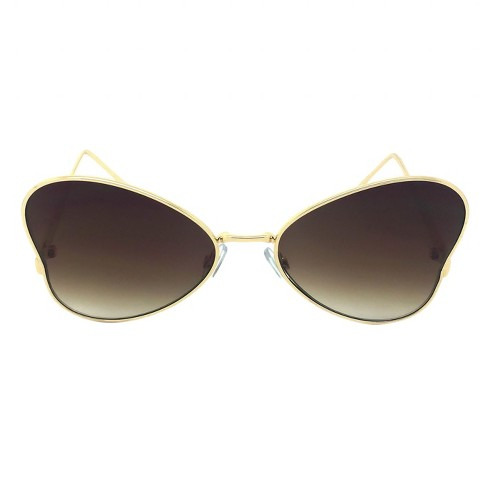 2e96cad7e8a Women s Oversized Sunglasses - Gold   Target