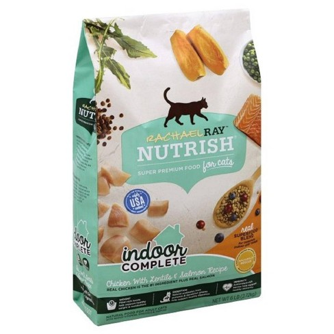Rachael Ray Nutrish Indoor Complete Chicken With Lentils & Salmon Recipe Adult Premium Dry Cat Food - image 1 of 4