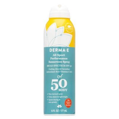 DERMA E All Sport Performance Sunscreen Spray - SPF 50 - 6 fl oz
