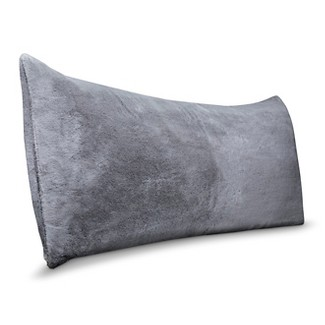 Faux Fur Body Pillow Cover Gray - Room Essentials™