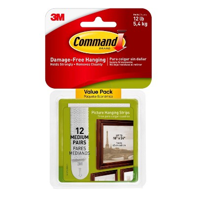 Command Picture Hanging Strips Value Pack (12 Sets of Strips)White