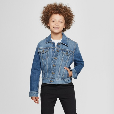 a3f648cd9b2f Boys  Long Sleeve Jean Jacket - Cat   Jack™ Medium Blue   Target