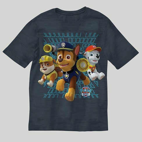 Boys' PAW Patrol Short Sleeve T-Shirt - Charcoal Heather - image 1 of 2