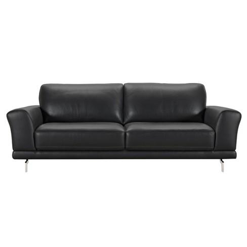 Armen Living Everly Contemporary Sofa Black
