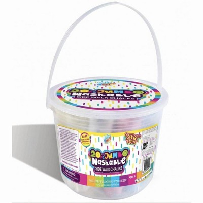 Anker Art Jumbo Washable Sidewalk Chalk   20 Piece Bucket Set