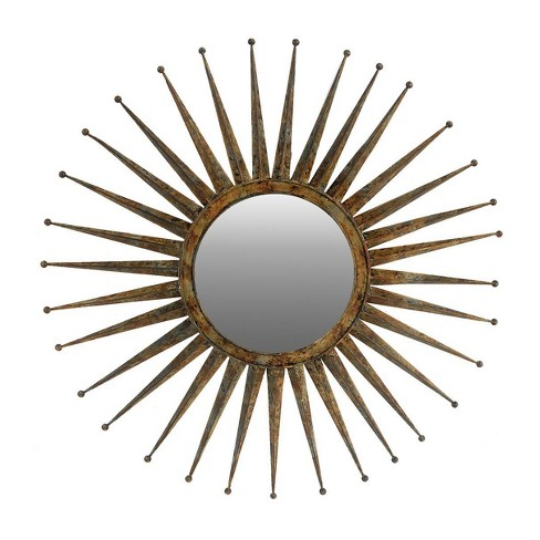 "30"" Medium Gemma Flare Mirror Gold - A&B Home - image 1 of 1"