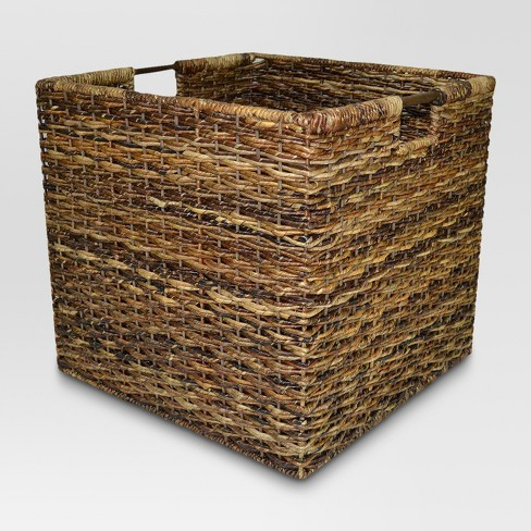 Wicker Extra Large Milk Crate - Dark Global Brown - Threshold™ - image 1 of 2