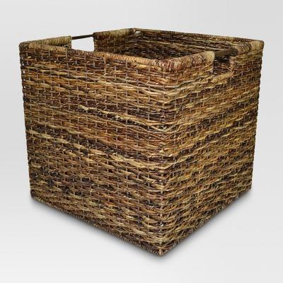 Beau Wicker Extra Large Milk Crate   Dark Global Brown   Threshold™