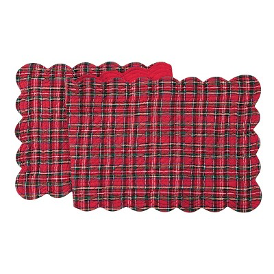 """C&F Home 14"""" x 70"""" Red Plaid Table Runner"""