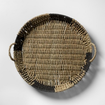 Seagrass Tray - Natural/Black - Opalhouse™