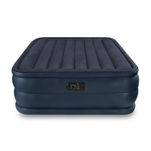 Intex Queen Raised Air Mattress Bed With Built In Electric Pump