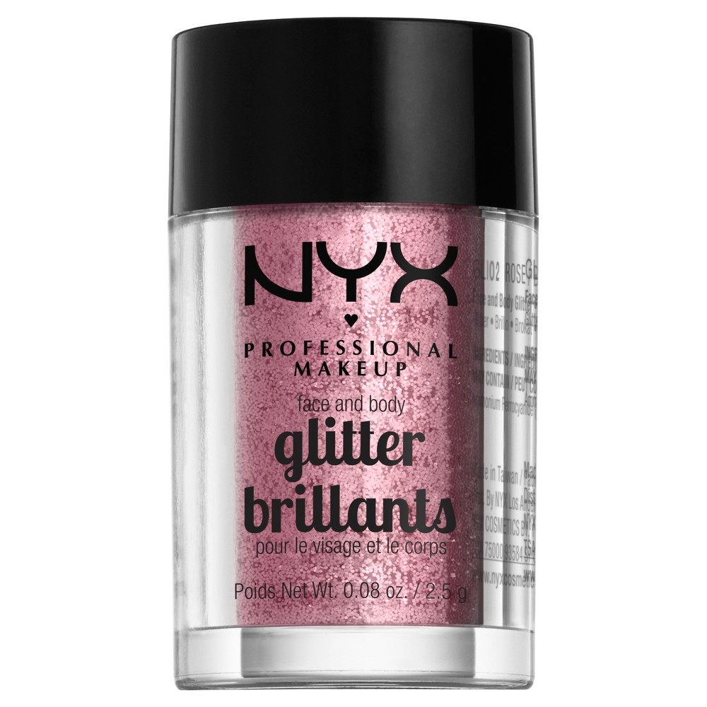 Nyx Professional Makeup Face & Body Glitter Rose (Pink) - 0.08oz