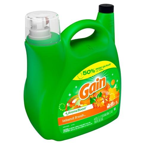 Gain Hec Island Fresh Liquid Laundry Detergent 150 Oz