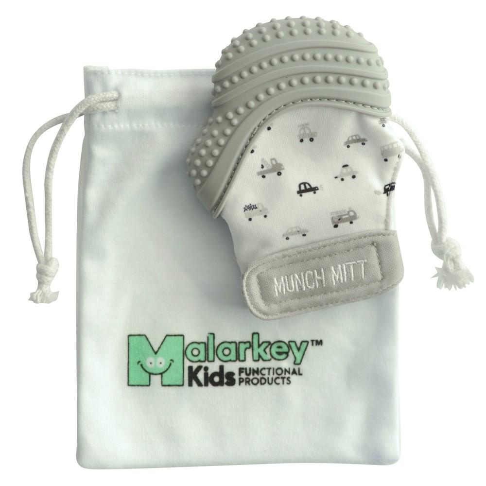 Image of Malarkey Kids Munch Mitt Teether with Wash Travel Bag - Gray