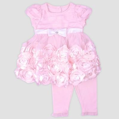 Baby Girls' Rosette Dress with Leggings Nate & Annee™ Pink 6-9M