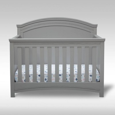Simmons Kids' Emma 4-in-1 Convertible Crib 'N' More, Greenguard Gold Certified - Gray