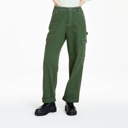 Women's Mid-Rise Straight Leg Pocket Pants - Sandy Liang x Target Green - image 1 of 4