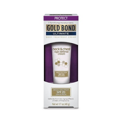 Gold Bond Neck & Chest Age Defense Sunscreen - SPF 20 - 1.7oz