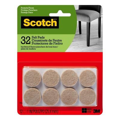 Scotch 1  32pk Felt Pads Beige