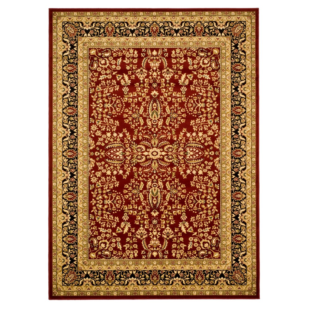 Light Off-White Floral Loomed Area Rug 5'3