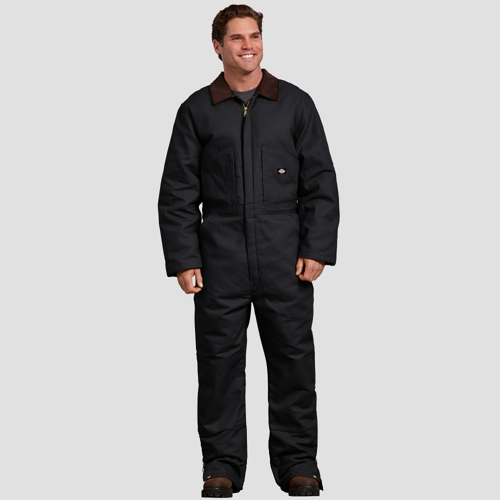 Dickies Men's Tall Ankle Straight Fit Overalls - Black LT