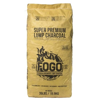 FOGO Super Premium Oak Restaurant All-Natural Smoked Hardwood Large Lump Charcoal for Smoking Sessions and Reverse Sear Type Cooks, 35 Pounds