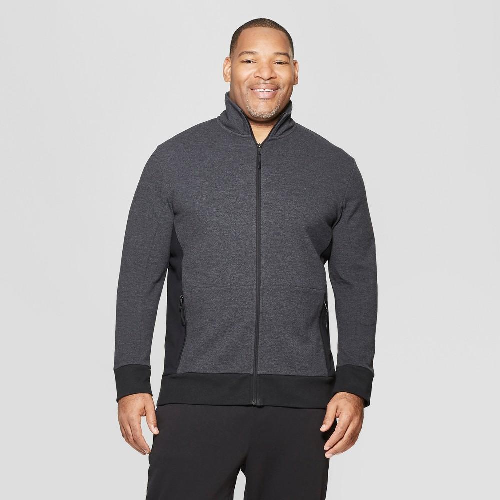 Men's Big & Tall Long Sleeve Track Jacket - Goodfellow & Co Deep Charcoal 2XBT