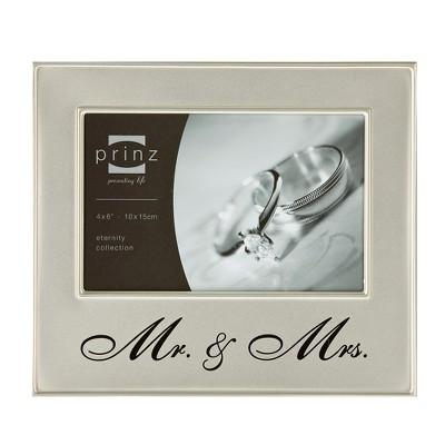 Prinz Mr. & Mrs. 4 x6  Metal Frame - Silver