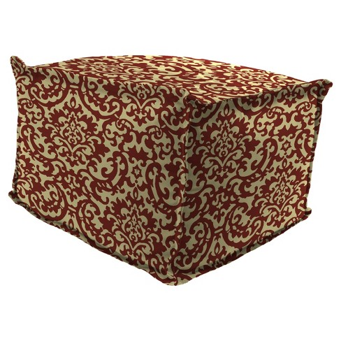 Outdoor Bean Filled Pouf/Ottoman In Duncan Jewel  - Jordan Manufacturing - image 1 of 2