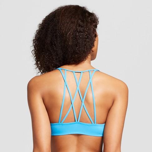 b665e49b50a8d Women s Micro Strappy T-Shirt Pushup Bra - Xhilaration™ Electra Blue 32DD    Target