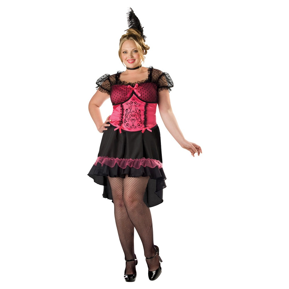 Women's Saloon Gal Costume XX-Large, Size: 20W/22W, Multicolored