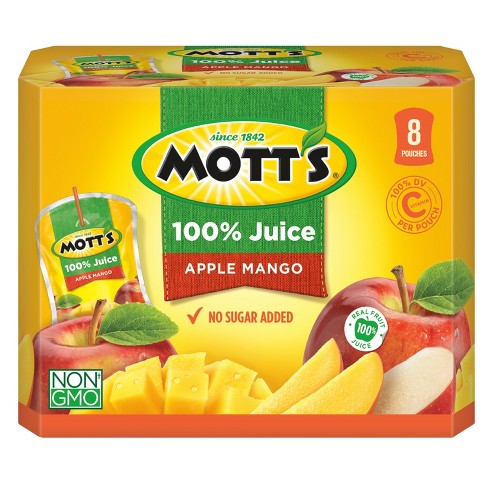 Mott's 100% Apple Mango Juice - 8pk/6.75 fl oz Pouches - image 1 of 3