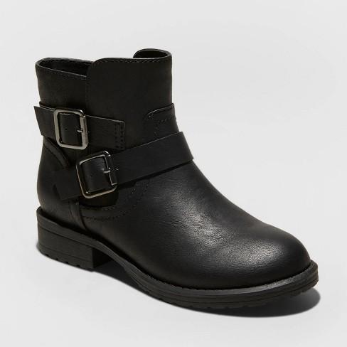 Girls' Inessa Fashion Boots - Cat & Jack™ Black - image 1 of 3