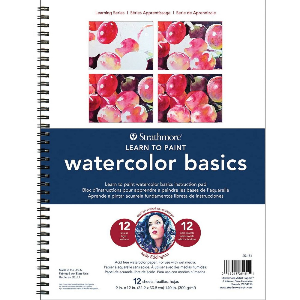 Image of Pacon 12pg Learn to Paint Watercolor Basics, White