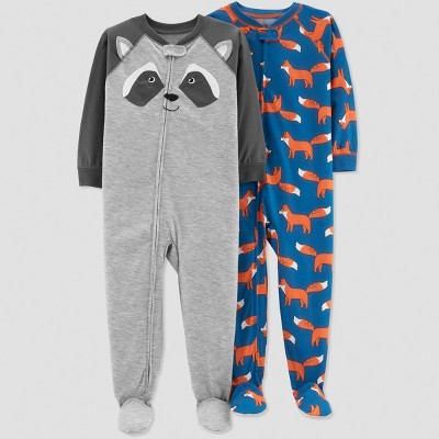 Baby Boys' Fox Pajama Set - Just One You® made by carter's Gray 9M