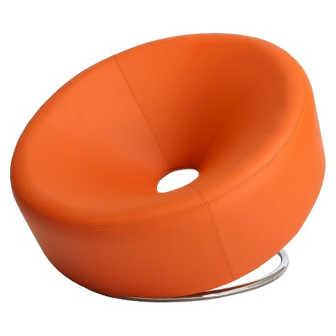 Enjoyable Modern Round Orange Accent Chair Orange Christopher Knight Home Gmtry Best Dining Table And Chair Ideas Images Gmtryco