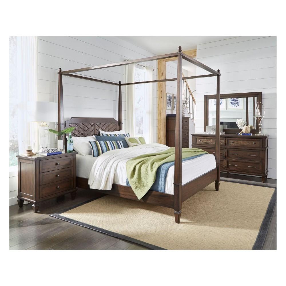 Coronado Complete King Canopy Bed Brown - Progressive Furniture