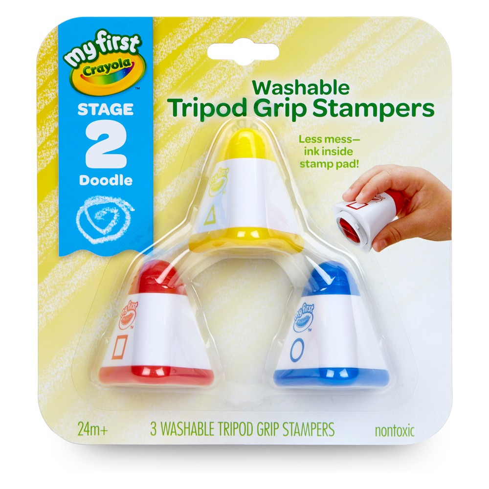 Crayola Tripod Grip Stampers Washable Stage 2, Multi-Colored