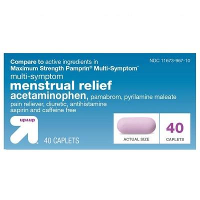 Acetaminophen Multi Symptom Menstrual Relief Caplets - 40ct - up & up™