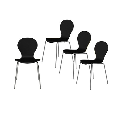 Set of 4 Saladin Mid-Century Modern Armless Dining Chairs - Handy Living