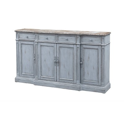 Delaney Stately 4 Door and 4 Drawer Media Credenza Gray - Treasure Trove Accents