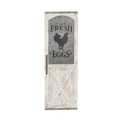 "16"" x 47"" infarm Fresh Eggs in Farmhouse Wall Decor Sign - Olivia & May"